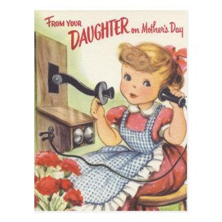 De su hija el día de madres postal