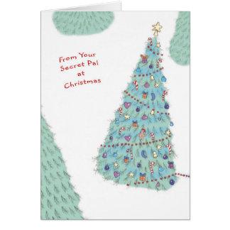 De su PAL secreto en el navidad Felicitación