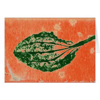 """De """"tarjeta de felicitación anaranjada común del"""