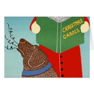 """De """"tarjeta de felicitación Caroling del navidad"""""""