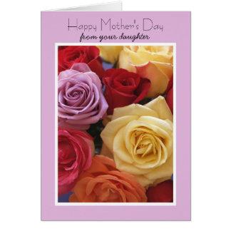 De tarjeta del día de madres de la hija