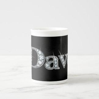 "De ""taza de la porcelana de hueso Bling del diaman Tazas De Porcelana"