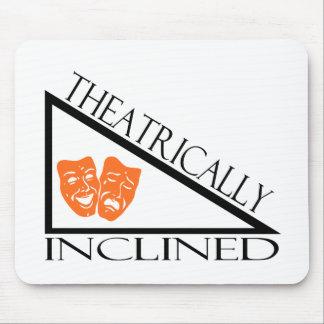 De teatro inclinado tapetes de ratón