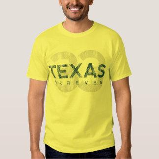 De Tejas camiseta para siempre Playeras