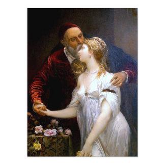 """~ de Ticiano y Lavinia (par cariñoso) Invitación 6.5"""" X 8.75"""""""