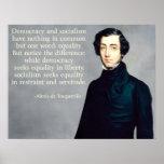 de Tocqueville Democracy y socialismo Póster