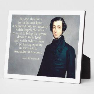 de Tocqueville Equality Quote Plaque