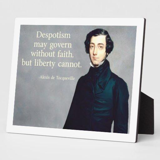 de Tocqueville Faith Quote Display Plaques