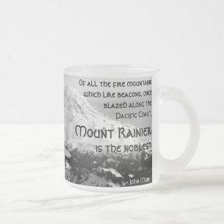 De todas las montañas del fuego… El Monte Rainier Taza De Cristal