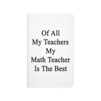 De todos mis profesores mi profesor de matemáticas cuaderno