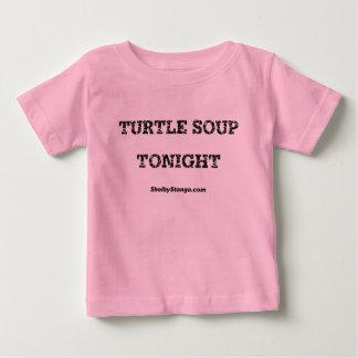 De tortuga de la sopa camiseta infantil esta noche playera