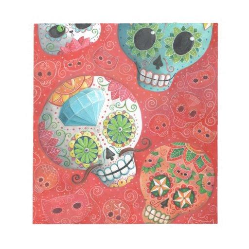 De tres días de los cráneos muertos bloc de papel