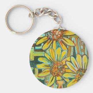 De Tuin, productos del arte del girasol Llavero Redondo Tipo Pin