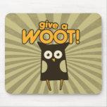 Dé un búho de pitido de Woot Tapetes De Ratones