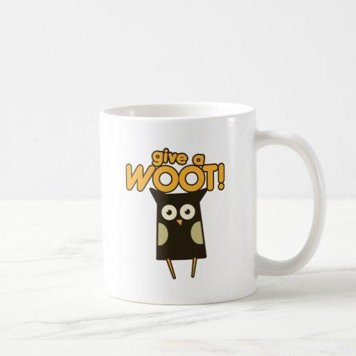 Dé un búho de pitido de Woot Taza