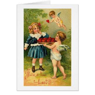 De un corazón verdadero tarjeta de felicitación