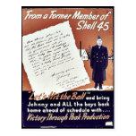 De un miembro anterior de Shell 45 Tarjeta Postal