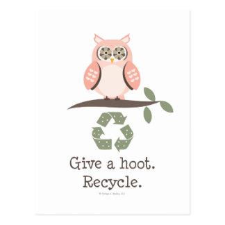 Dé un pitido reciclan la postal