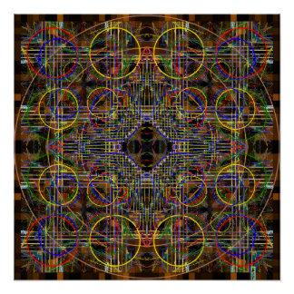 De una cierta serie de la simetría perfect poster