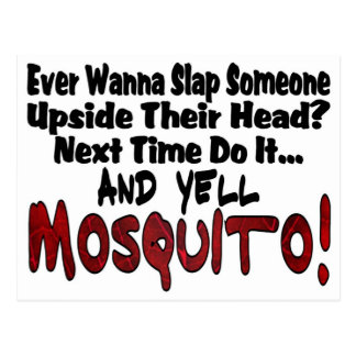 Dé una palmada me y al mosquito tarjeta postal