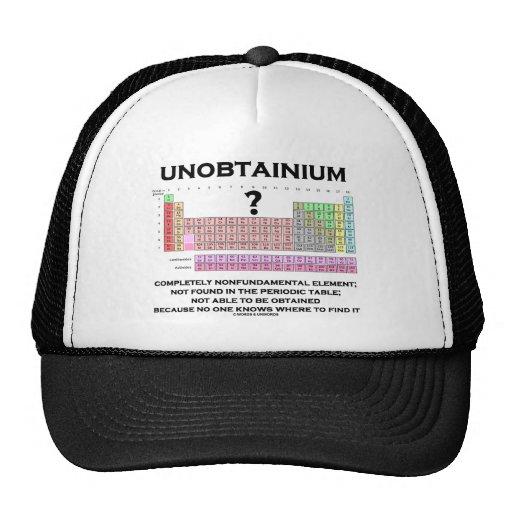 De Unobtainium elemento totalmente Nonfundamental Gorras De Camionero