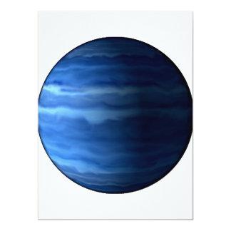 """~ de URANO v2 (Sistema Solar) del PLANETA Invitación 6.5"""" X 8.75"""""""