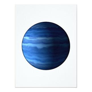 """~~ de URANO v2 (Sistema Solar) del PLANETA Invitación 6.5"""" X 8.75"""""""