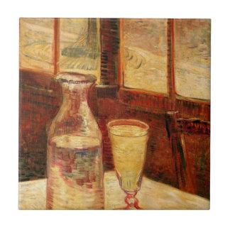 De Van Gogh del ajenjo del vintage todavía del Azulejo Cuadrado Pequeño