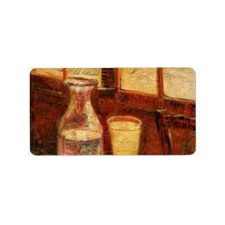 De Van Gogh del ajenjo del vintage todavía del Etiqueta De Dirección