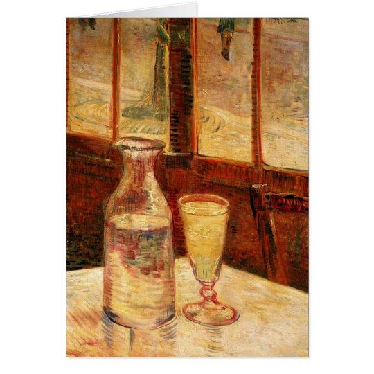 De Van Gogh del ajenjo del vintage todavía del Tarjeta De Felicitación