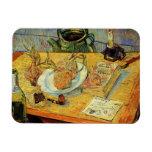 De Van Gogh del vintage del poste todavía del impr Imanes De Vinilo