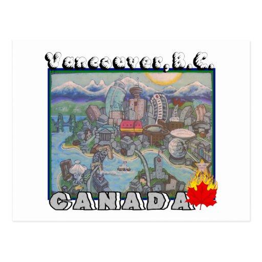 De Vancouver postal A.C. Canadá
