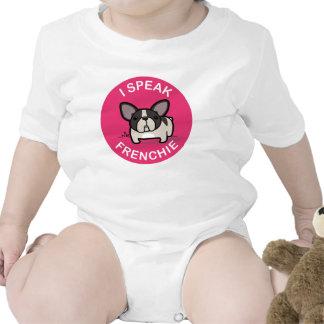 De varios colores Brindle rosado hablo Frenchie Trajes De Bebé