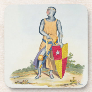 De Vere, Earl of Oxford, 1280, from 'Ancient Armou Beverage Coasters