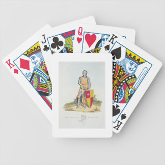 De Vere, Earl of Oxford, 1280, from 'Ancient Armou Bicycle Playing Cards