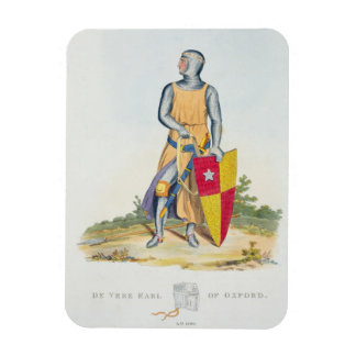 De Vere, Earl of Oxford, 1280, from 'Ancient Armou Rectangular Photo Magnet