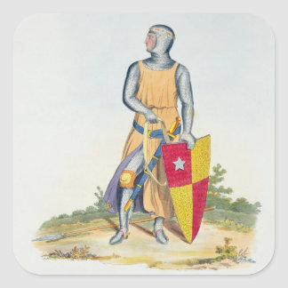 De Vere, Earl of Oxford, 1280, from 'Ancient Armou Square Sticker