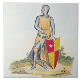 De Vere, Earl of Oxford, 1280, from 'Ancient Armou Large Square Tile