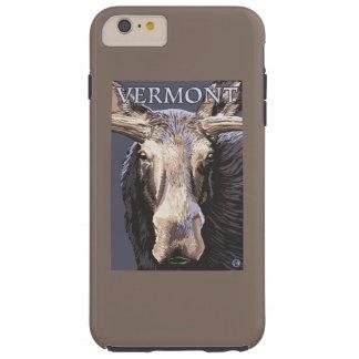 De VermontMoose cierre para arriba Funda De iPhone 6 Plus Tough