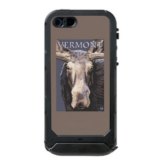 De VermontMoose cierre para arriba Carcasa De Iphone 5 Incipio Atlas Id