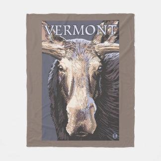 De VermontMoose cierre para arriba Manta De Forro Polar