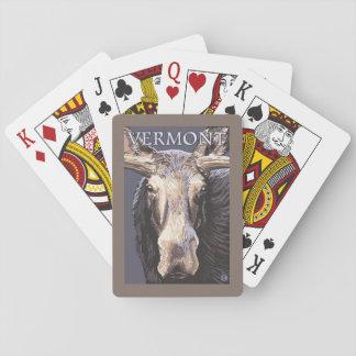De VermontMoose cierre para arriba Naipes