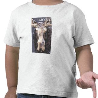 De VermontMoose cierre para arriba Camiseta