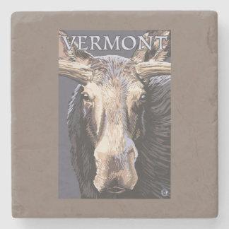 De VermontMoose cierre para arriba Posavasos De Piedra
