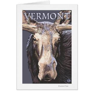 De VermontMoose cierre para arriba Felicitación