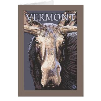 De VermontMoose cierre para arriba Tarjetón