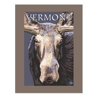 De VermontMoose cierre para arriba Postal