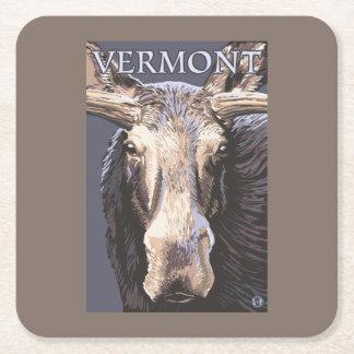 De VermontMoose cierre para arriba Posavasos Desechable Cuadrado