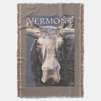 De VermontMoose cierre para arriba Manta