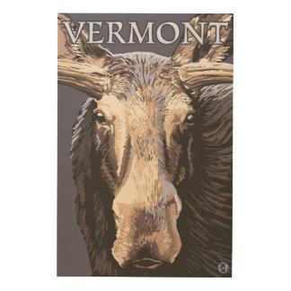 De VermontMoose cierre para arriba Cuadros De Madera